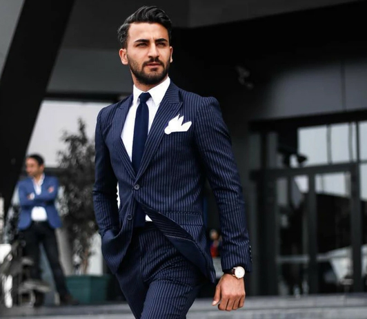navy blue slim fit suit on clubfactory