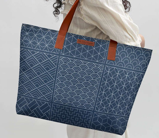 blue tote bag on amazon