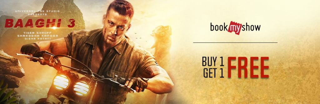 Baaghi 3 BookMyShow Movie Ticket Booking Offers