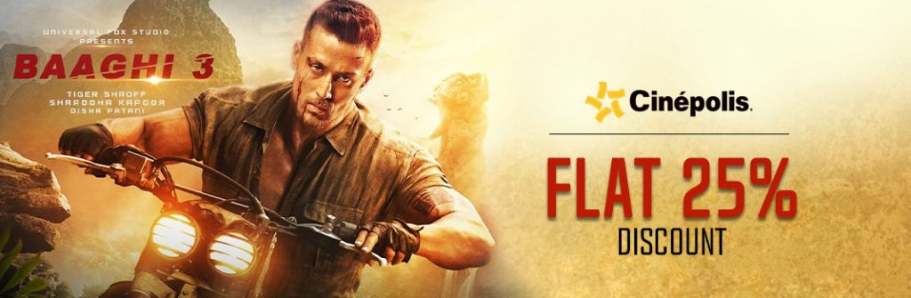 Baaghi 3 Cinepolis Offers