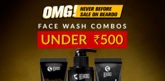 Never-Before Sale on Beardo – Face Wash Combos Under Rs.500