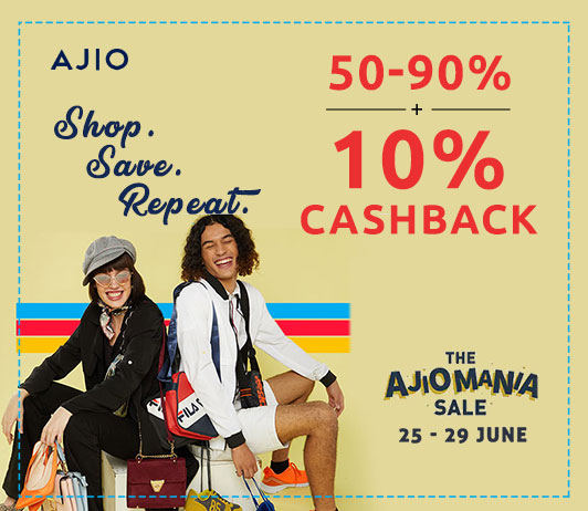Get Up to 90% Off + Extra Cashback on The AjioMania Sale