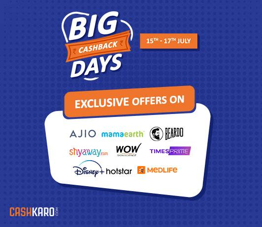 Go Big with CashKaro's Big Cashback Days Sale!