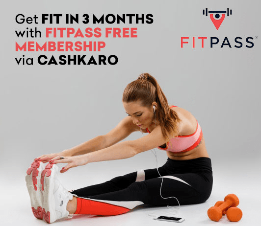 Get Fit in 3 Months with Fitpass Free Membership via CashKaro