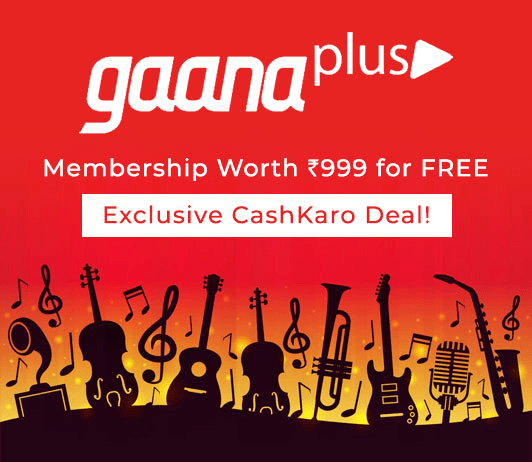 Gaana Plus Membership Worth Rs 999 for Free