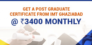Get a Post Graduate Certificate from IMT Ghaziabad @Rs.3400 Monthly
