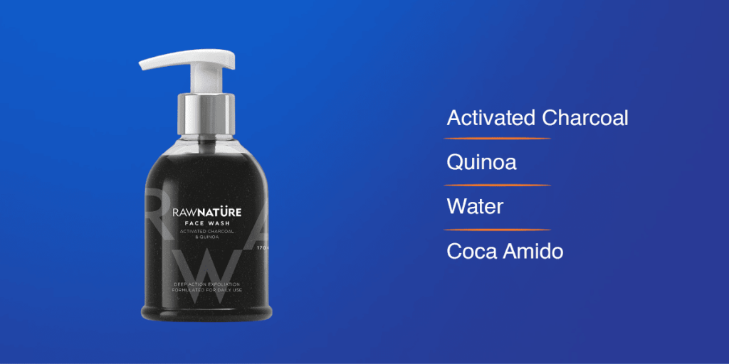 Raw Nature Charcoal Face Wash