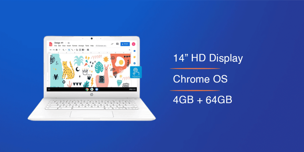 HP N3350 Touchscreen Chromebook