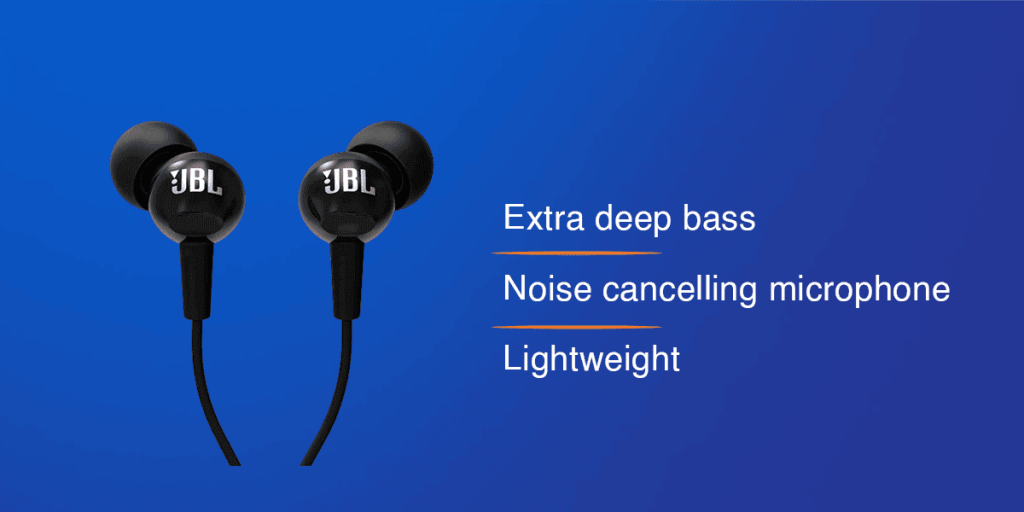 JBL C100SI In-Ear Deep Bass Headphones