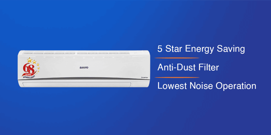 Sanyo 1.5 Ton Dual Inverter Wide Split AC