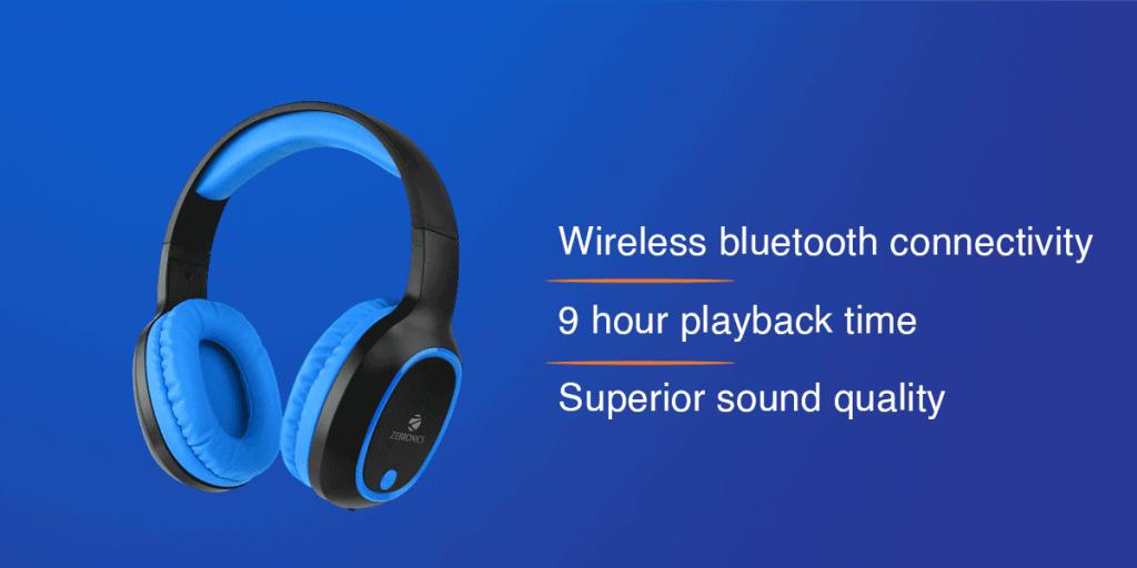 Zebronics Zeb-Thunder Wireless Bluetooth Headphones