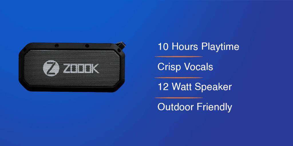 Zook Bass Warrior Portable Wireless Speaker