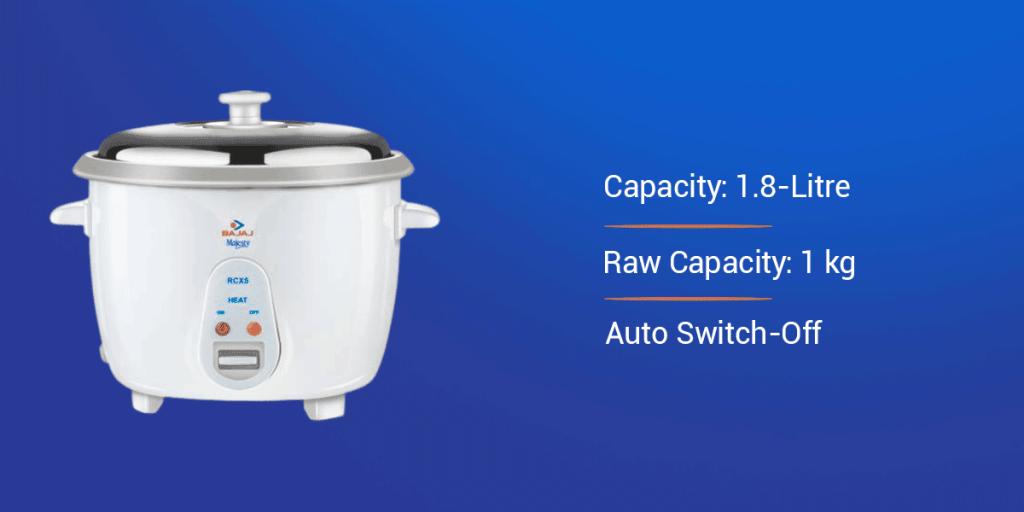 Bajaj RCX 5 1.8-Litre Electric Rice Cooker