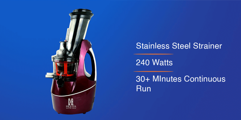 Hestia Appliances Nutri-Max Cold Press Juicer