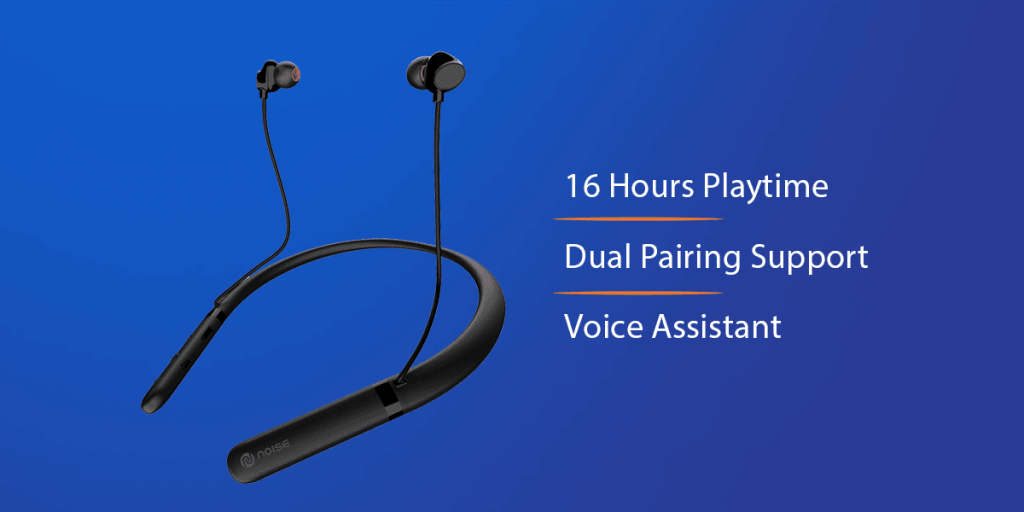 Noise Tune Charge Bluetooth Neckband Earbuds