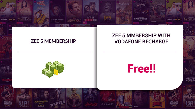 Vodafone Recharge Free Zee5 Subscription
