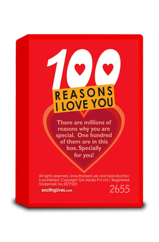100 Reasons I Love You Gift for Girlfriend