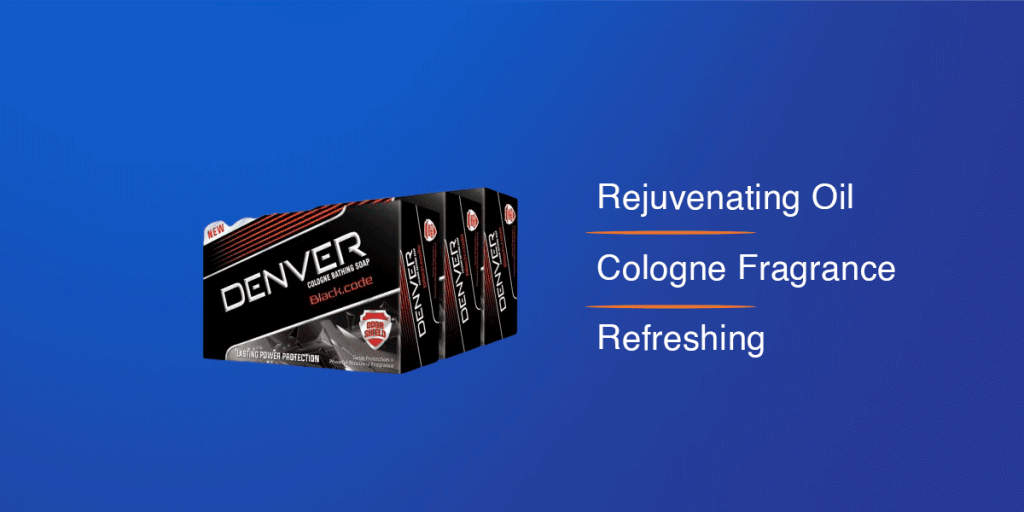 Denver Black Code Soap Bar For Men