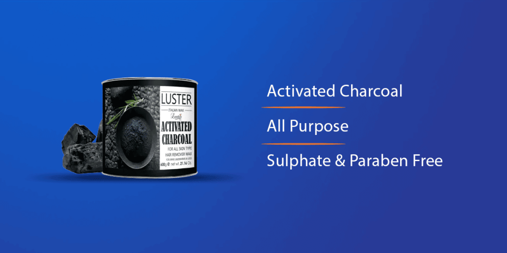 Luster Activated Charcoal Hot Wax