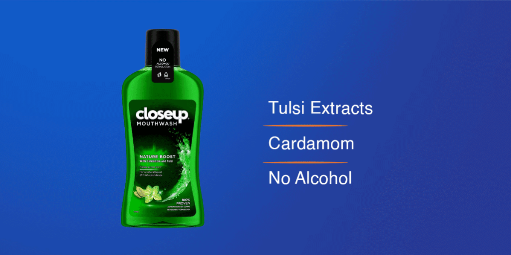Closeup Nature Boost Anti Germ Mouthwash