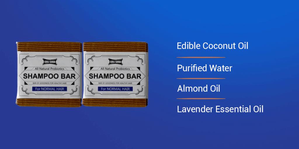 Goli Soda Natural Shampoo Bar