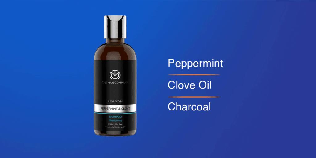 The Man Company Peppermint & Clove Charcoal Shampoo