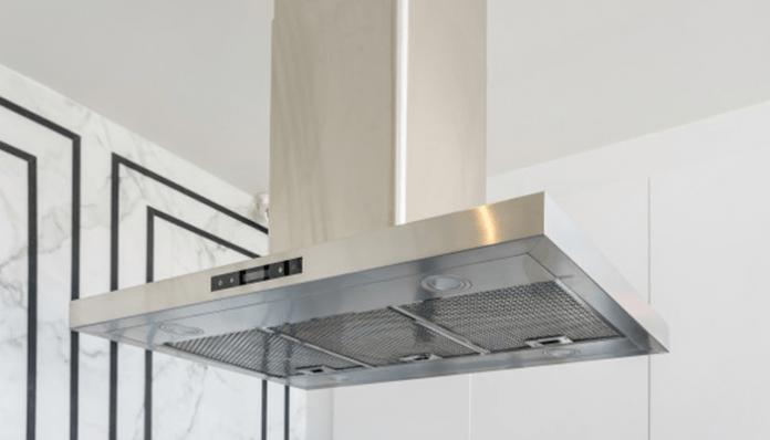 silver kitchen chimney