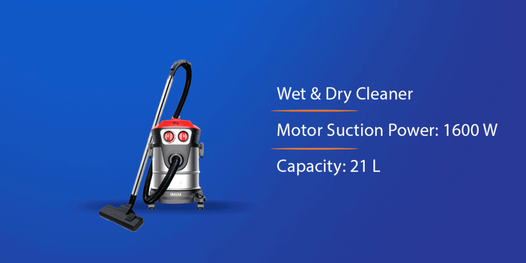 Inalsa Micro Wet and Dry Vacuum Cleaner