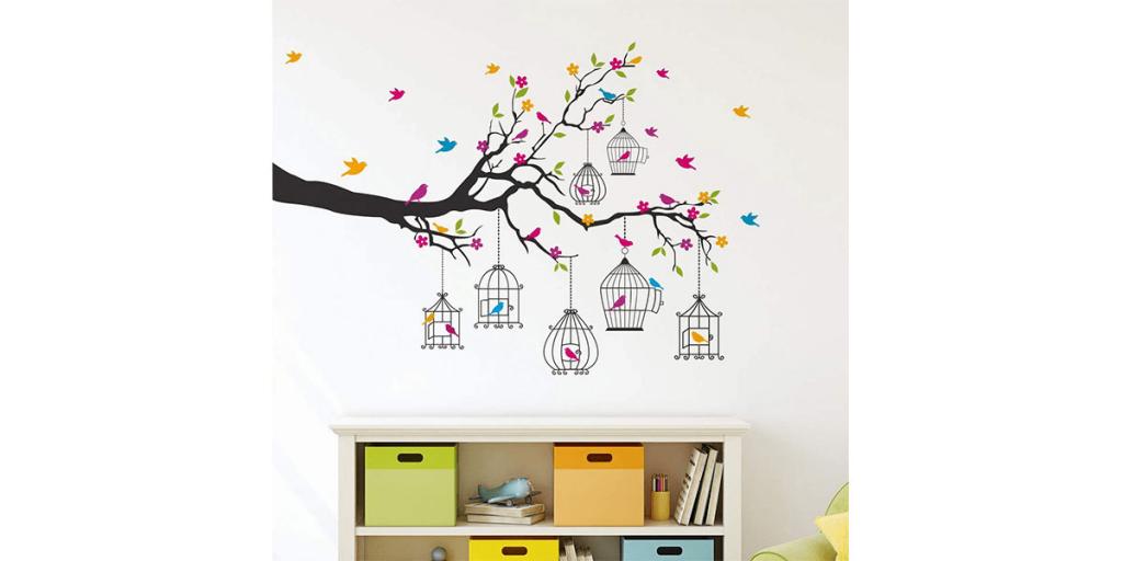 Amazon Solimo Birdie House Wall Sticker
