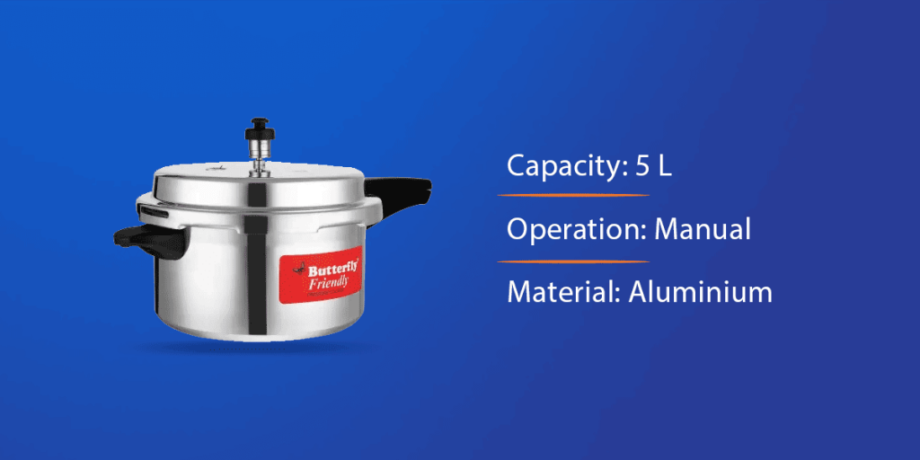 Butterfly 5 L Induction Bottom Pressure Cooker
