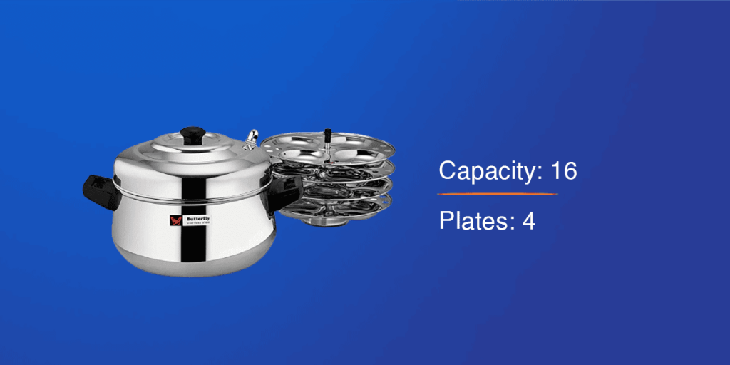 Butterfly Stainless Steel Curve Idli Cooker