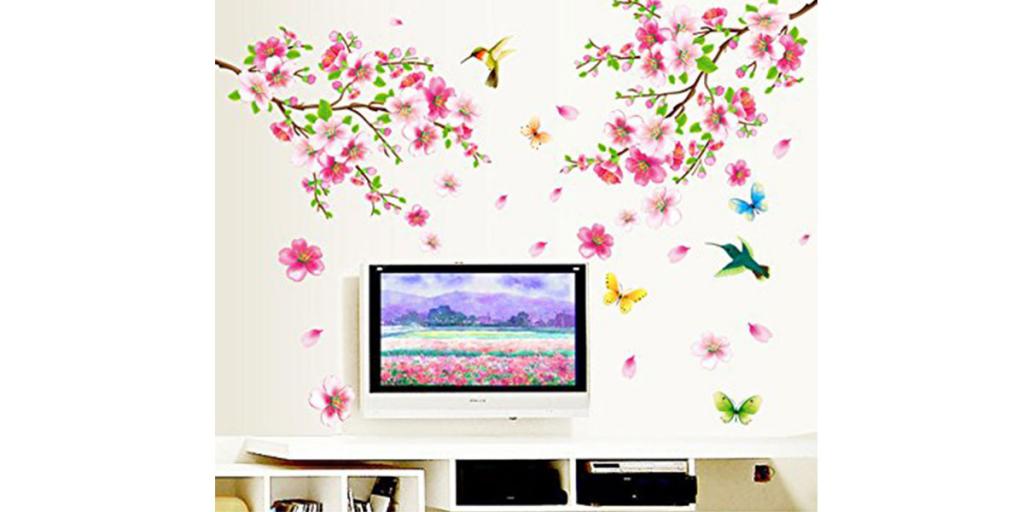 Decals Design Flower Branch Wall Sticker