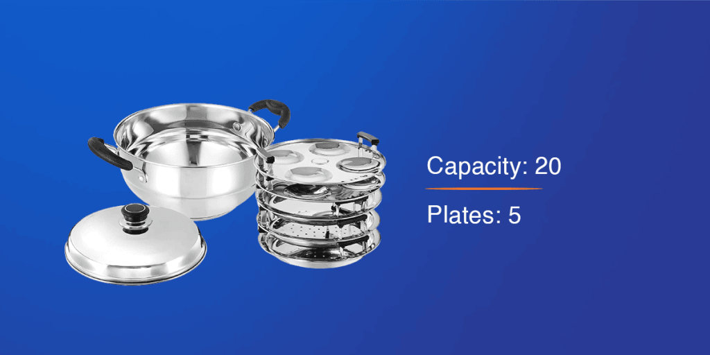 Solimo Stainless Steel Induction Bottom Idli Maker