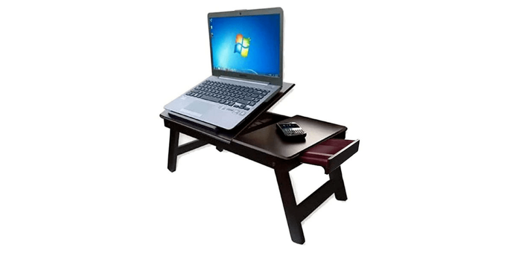 Zaqondigital Wooden Adjustable Study and Laptop Table