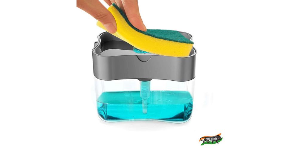 ZooY 2 in 1 Soap Dispenser for Dishwasher Liquid Holder