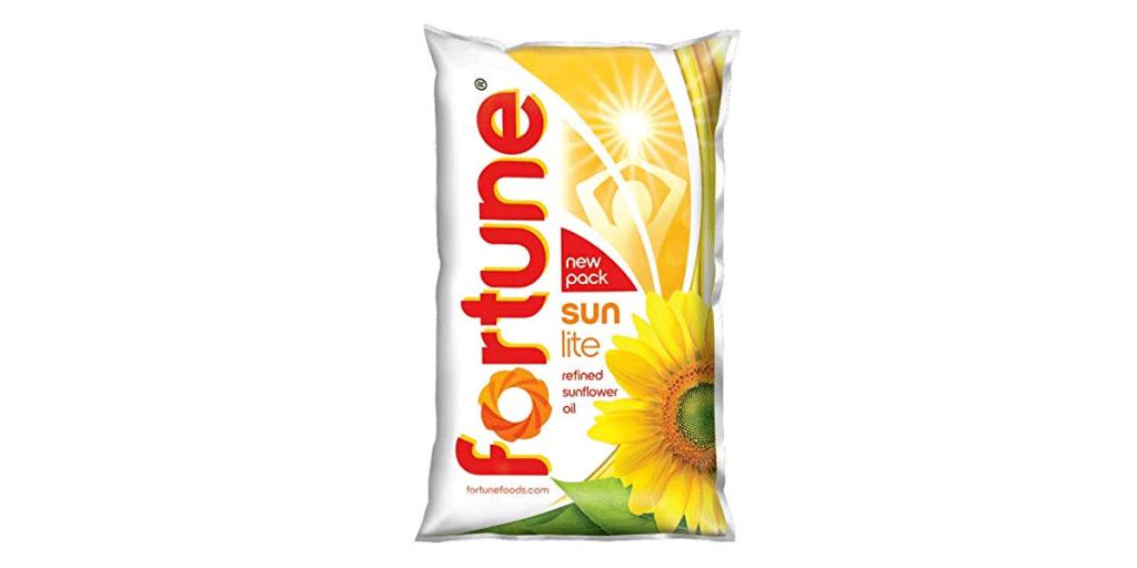 Fortune Sunlite Refined Sunflower Oil – 1L Pouch