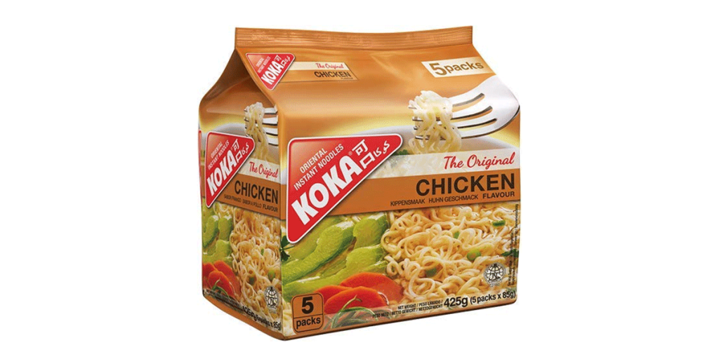 Koka Oriental Instant Noodles, Pack of Five, 425 g