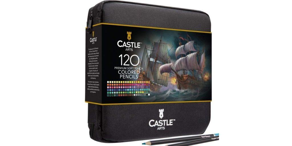 Castle Art Supplies 120 Colored Pencils