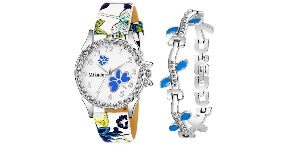 Mikado Girls Watch and Bracelet Combo