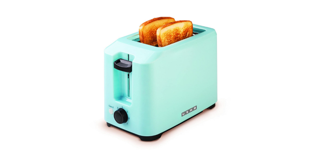Usha 3720 700-Watt 2-Slice Pop-up Toaster