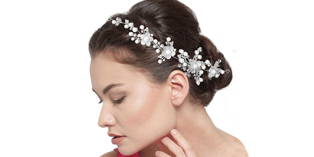 YouBella Fashion Floral Stone Hair Chain