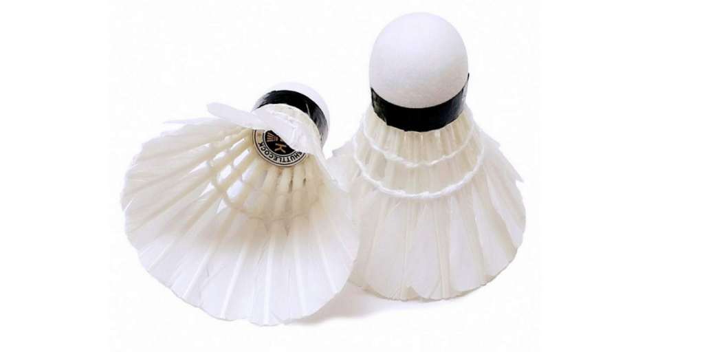 Amifit Gold Series White Feather Badminton Shuttlecocks - Pack of 10