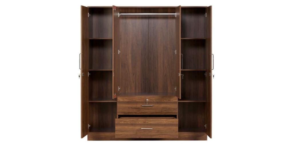 Wakefit Organza 4 Door Wardrobe
