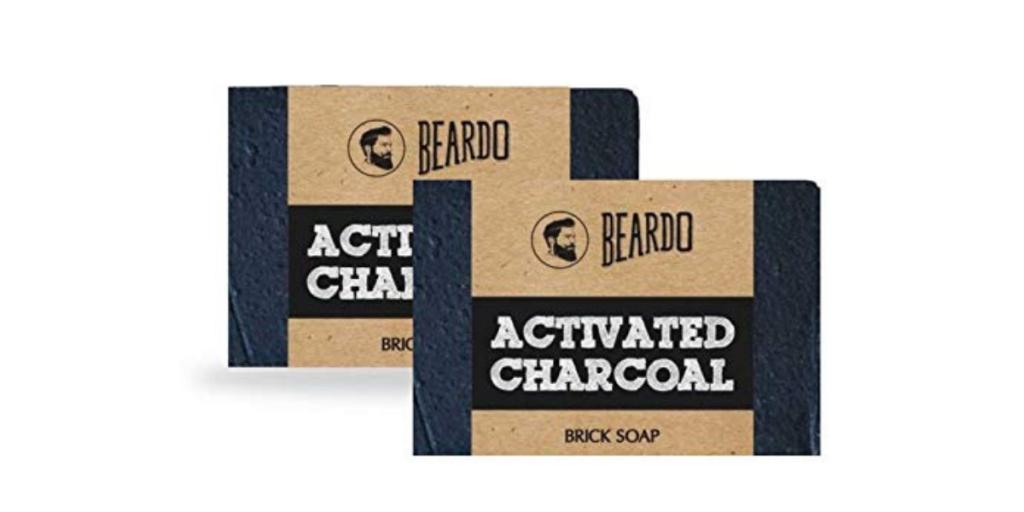 Beardo Activated Charcoal Brick Soap