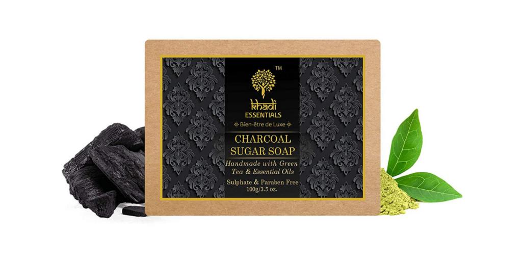Khadi Essentials Ayurvedic Activated Charcoal Soap