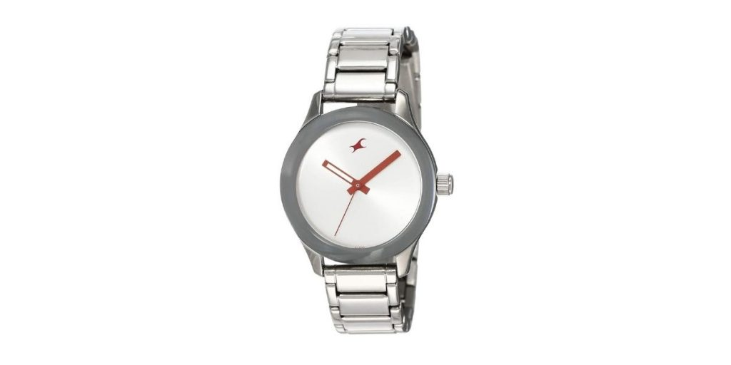 Fastrack NM6078SM02 Silver Dial Women's Watch