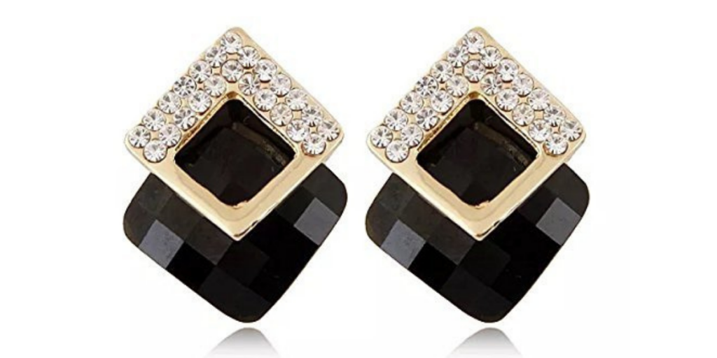 Gold Plated Crystal Earrings for Girls