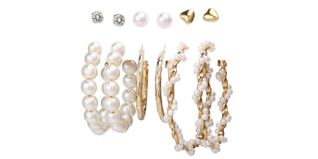 Jewels Galaxy Brass Pearl Earrings