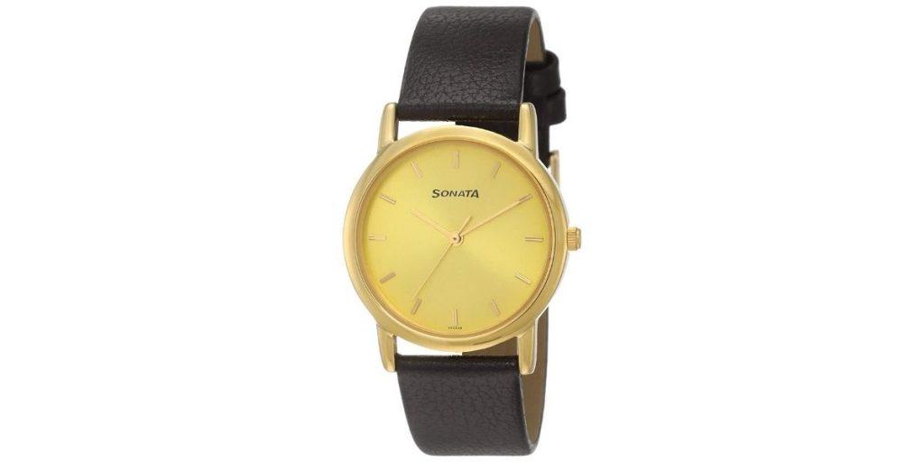 Sonata NM7987YL01W Men's Watch