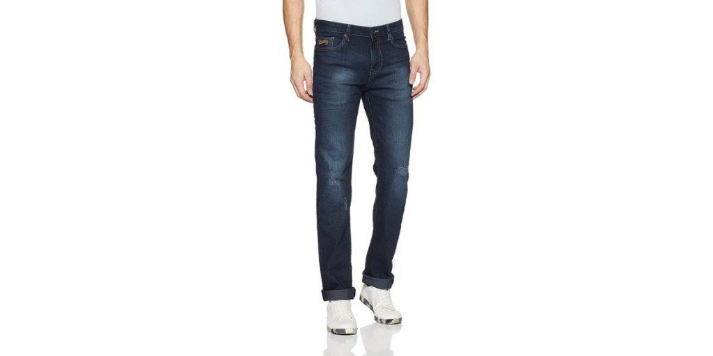 Aeropostale Straight Fit Distressed Jeans